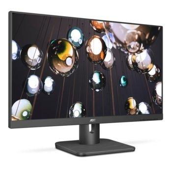 """Монитор AOC 24E1Q, 23.8"""" (60.45 cm), IPS панел, Full HD, 4ms, 200000000:1, 250 cd/m2, HDMI, DisplayPort, VGA image"""