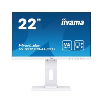 "Монитор Iiyama XUB2294HSU-W1, 21.5"" (54.61 cm), VA, Full HD, 4ms, 80000000:1, 250 cd/m², Display Port, HDMI, VGA, USB image"