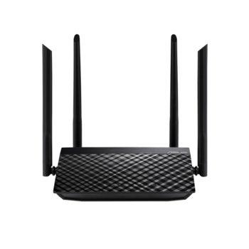 Рутер Asus RT-AC51, 750Mbps, 2.4GHz(300 Mbps) / 5GHz(433 Mbps), Wireless AC, 4x LAN100, 1x WAN100, 4x външни антени image