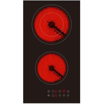 Плот за вграждане Arielli AE-321FS, 2 нагревателни зони, сензорно управление , индикатор за остатъчна топлина, възможност за заключване, таймер, черен image