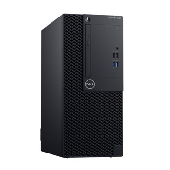 Настолен компютър Dell Optiplex 3070 MT (N016O3070MT), шестядрен Coffee Lake Intel Core i5-9500 3.0/4.4 GHz, 8GB DDR4, 512GB SSD, 4x USB 3.1, клавиатура и мишка, Windows 10 Pro image