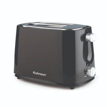 Тостер Rohnson R-210 B, 750 W, 6 степени на изпичане, за 2 филии, черен image