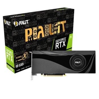 Видео карта GF RTX 2070 SUPER, 8GB, Palit X, PCI-E 3.0, GDDR6, 256bit, Display Port, HDMI image