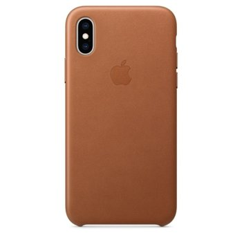 Apple iPhone XS Leather Case - Saddle Brown product