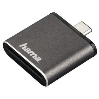 Четец за карти HAMA 124186, USB-C 3.1, SD/SDHC/SDXC, сив image