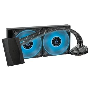 Водно охлаждане за процесор Arctic Freezer II RGB 280mm, RGB Controller, съвместимост със сокети Intel 1200/115X/2011-3/2066 & AMD AM4 image