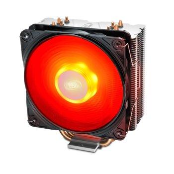 Охлаждане за процесор DeepCool GAMMAXX 400 V2, съвместимост с Intel LGA 1151/1150/1155/1366 & AMD AM4/FM2+/FM2/FM1/AM3+/AM3/AM2+/AM2, червена LED подсветка image