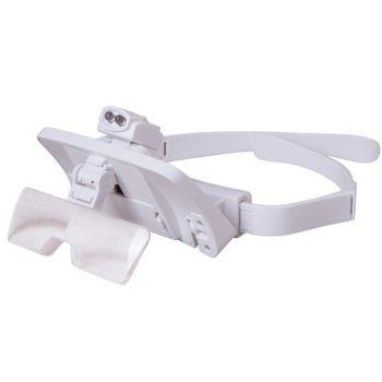 Увеличителни очила Levenhuk Zeno Vizor G7, 1/1,5/2/2,5/3,5x увеличение, 2 светодиодни лампи image