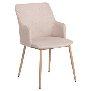 Трапезен стол Carmen 512, дамаска, телесен image