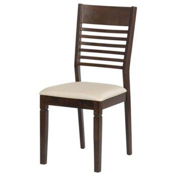 Трапезен стол Carmen PAOLA, какао/екрю image