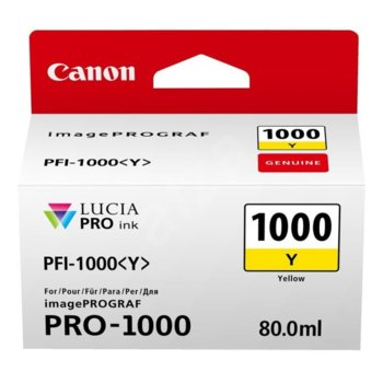 Canon PFI-1000 (0549C001AA) Yellow product