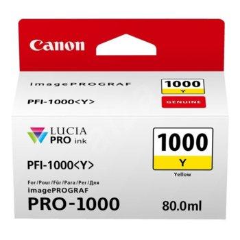 ГЛАВА ЗА Canon imagePROGRAF PRO-1000 - Photo Yellow - 0549C001AA P№ PFI-1000 - 80ml image