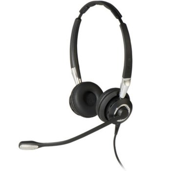 Слушалки Jabra BIZ 2400 II Duo, микрофон, Bluetooth/USB, черни image