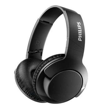 Слушалки Philips BASS+, безжични, микрофон, черни image