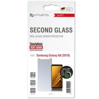 Протектор от закалено стъкло /Tempered Glass/, 4Smarts 4S493170, за Samsung Galaxy A8 (2018) image