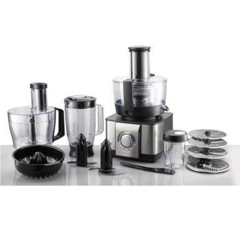 Кухненски робот GORENJE SBR 1000 BE, Приставка за изстискване, Неръждаема стомана, Лесно почистване, 1100 W, инокс image