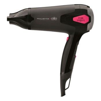 Сешоар Rowenta CV5372F0 Studio Dry Effiwatts Elite, 2100W, 3 степени за настройка на температурата и 3 за скоростта, свалящ се филтър, черен image