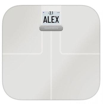 Смарт кантар Garmin Index S2, до 9 месеца живот на батериите, измерване на процент телесна мазнина/костна маса/процент на вода в тялото, Wi-Fi, черен image