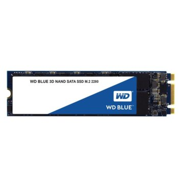 Памет SSD 500GB Western Digital Blue, SATA 6Gb/s, M.2 2280, скорост на четене 560 MB/s, скорост на запис 530MB/s image