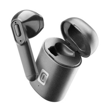 Слушалка Cellularline Power Capsule, безжична, микрофон, до 3 часа работа, универсална, черна image