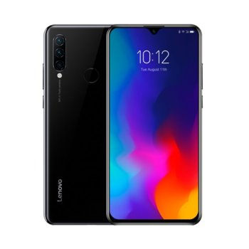 "Смартфон Lenovo K10 Note (черен), поддържа 2 sim карти, 6.3"" (16.00 cm)IPS дисплей, осемядрен Snapdragon 710 2.2 GHz, 6GB DDR4, 128GB Flash памет (+ microSD слот), 16.0 + 8.0 + 2.0 & 16.0 Mpix камера, Android image"
