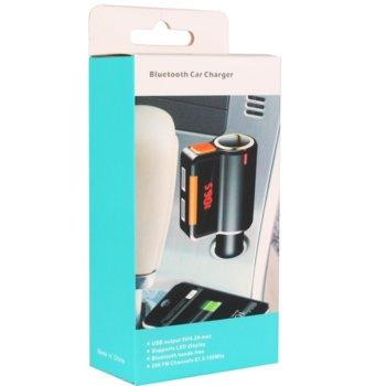 FM Трансмитер Earldom M10, Bluetooth, USB, 3.1A, черен image