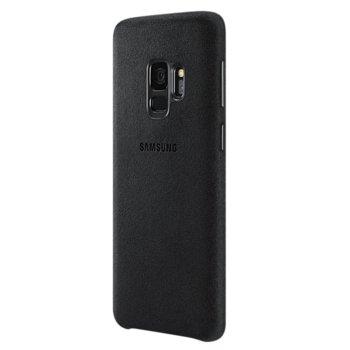 Калъф за Samsung Galaxy S9, Alcantara Cover, велур, черен, оригинален image