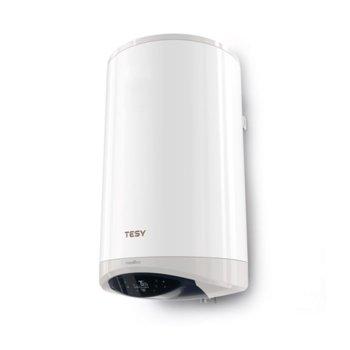 Електрически бойлер Tesy ModEco Cloud (GCV 100 47 24D C21 ECW), Wi-Fi, 100 л., 2400 W, стъклокерамично покритие, енергиен клас B, 47.0 x 98.5 x 49.6 cm, бял image