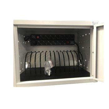 Универсален шкаф Estillo IP-1412, съхранение и зареждане на до 12 лаптопа/таблета, стомана, ключалка, за стена/свободностоящ image