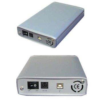 "Кутия 5.25""(13.34 cm), Roline 16.01.4248-10, за 5.25"" IDE, USB 2.0, сива image"