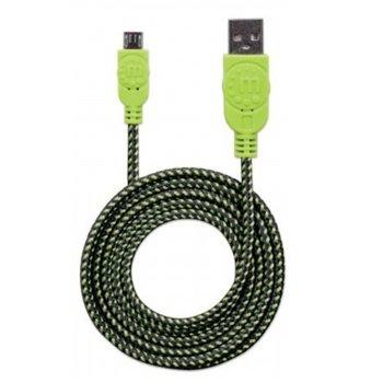 Кабел MANHATTAN 352765, от USB А(м) към USB Micro B(м), 1.8m, зелен image