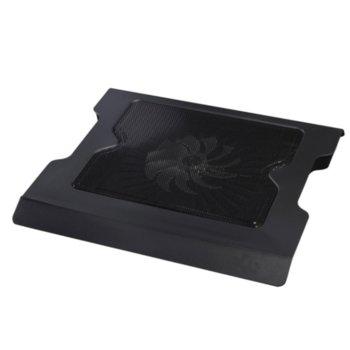 "Охлаждаща поставка за лаптоп DX-004, за лаптопи до 15.6"" (39.62cm), 1 вентилатор, USB, черна image"