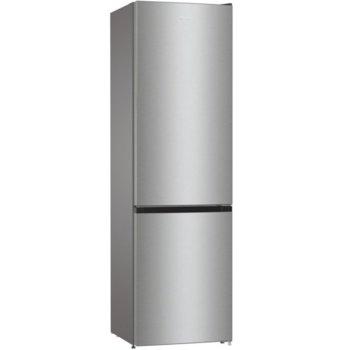 Хладилник с фризер Gorenje RK6201ES4, клас F, 351 л. общ обем, свободностоящ, FrostLess, CrispZone, EcoMode режим на пестене на енергия, сив image