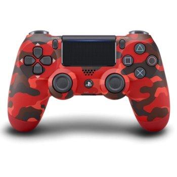 Геймпад Sony DualShock 4 V2 - Red Camo, безжичен, за PS4, червен image