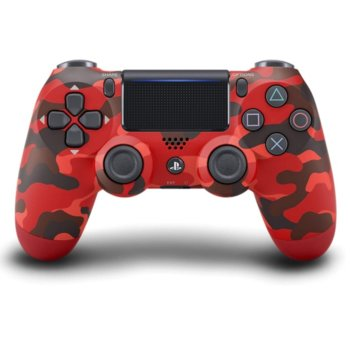 Геймпад PlayStation DualShock 4 V2 - Red Camouflage, безжичен, за PS4, червен image