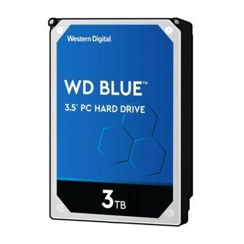 """Твърд диск 3TB WD Blue PC ,SATA 6 Gb/s, 5400 rpm, 64MB, 3.5"""" (8.89 cm) image"""