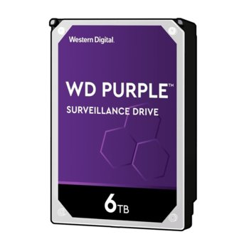 "Твърд диск 6TB Western Digital Purple SATA 6Gb/s, 5400 rpm, 64MB кеш, 3.5"" (8.89 cm) image"