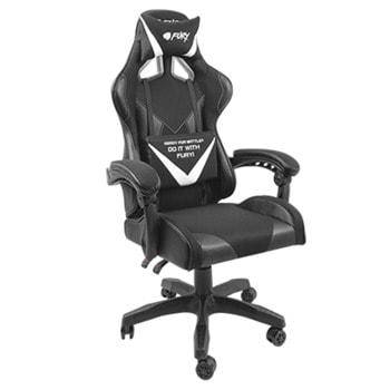 Геймърски стол Fury Avenger L, регулиране на височината, заключващ механизъм на облегалката, до 150 kg, черен image