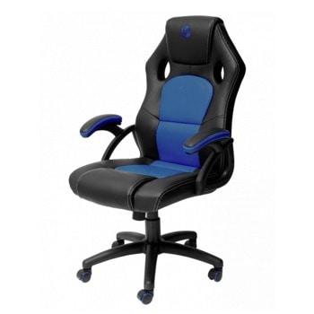 Геймърски стол Nacon PCCH-310, до 110кг. макс. тегло, еко кожа, газов амортисьор, регулируема височина, черно-син image