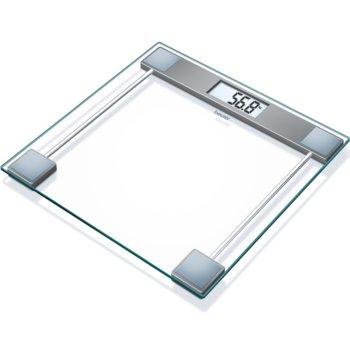 Цифров кантар Beurer GS 11 Glass bathroom scale, капацитет 150 кг, LCD дисплей, с включена батерия, image