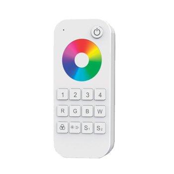 LED RGBW контролер Elmark EM99RGBREMOTE4, 30m обхват, RF(2.4GHz) 58.5mm изходящ сигнал, 4 зони image