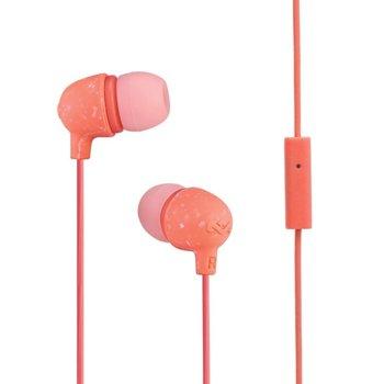 Слушалки тапи House of Marley Little Bird (EM-JE061-PH), микрофон, 3.5mm, розови image