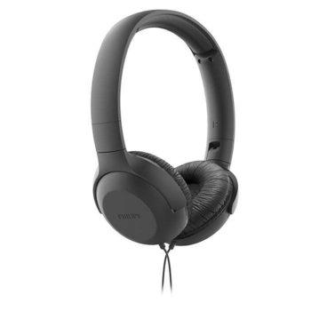 Слушалки Philips TAUH201BK, микрофон, черни image