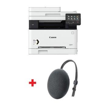 Мултифункционално лазерно устройство Canon i-SENSYS MF-641CW в комплект с тонколона Huawei Sound Stone Bluetooth Speaker CM51 (черна), цветен, принтер/копир/скенер, 600 x 600 dpi, 18 стр/мин, Wi-Fi, LAN, USB, A4 image