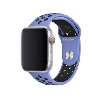 Каишка за смарт часовник Apple Watch (44mm) Nike Band: Royal Pulse/Black Nike Sport Band - S/M & M/L, лилава image