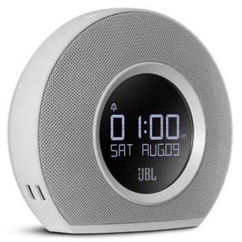 Тонколона Horizon, 2.0, 10W RMS, безжична, Bluetooth/USB/FM радио, будилник, бяла image
