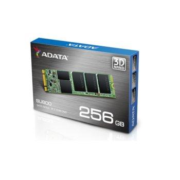 Памет SSD 256GB A-Data SU800, SATA 6Gb/s, M.2 (2280), скорост на четене 560MB/s, скорост на запис 520MB/s image