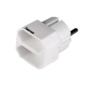Разклонител HAMA 47631 Шуко/2хЕвро букси, 2 бр,/опаковка, (бял) image