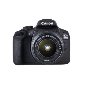 "Фотоапарат Canon EOS 2000D (черен) в комплект с обективи Canon EF-S 18-55mm f/3.5-5.6 IS и EF-S 10-18mm f/4.5-5.6 IS STM, 24.1 Mpix, 3,0"" (7.62 cm) сензорен TFT дисплей, Wi-Fi, SD/SDHC/SDXC слот, USB, HDMI mini image"