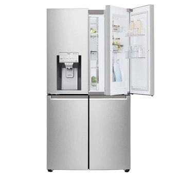 Хладилник с фризер LG GMJ945NS9F, клас F, 638 л. общ обем, свободностоящ, 450 kWh/годишно, DoorCooling+ технология, Pure N Fresh филтър, инокс image